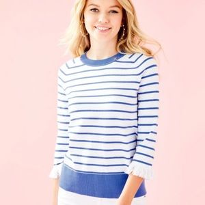 NWOT Dasha Sweater in Coastal Blue Stripe